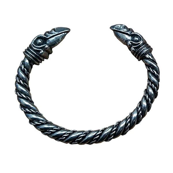Odins Raven 1 Pewter Bracelet, Hand Made in Scotland_