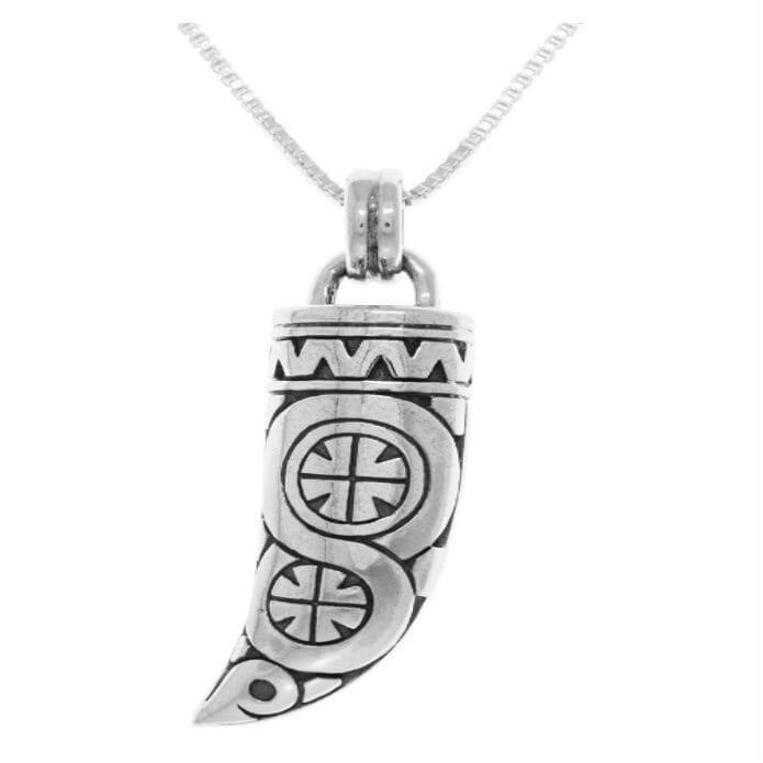 Sterling Silver Viking Warrior Horn Pendant Necklace3